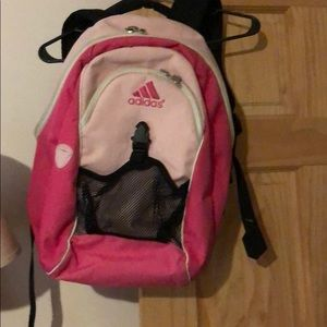 Two tone pink adidas backpack